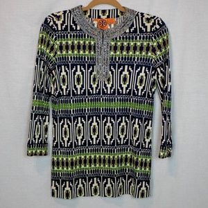 Tory Burch Beaded Patterned Tunic S